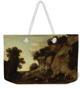 Pastoral Scene At The Cave Weekender Tote Bag