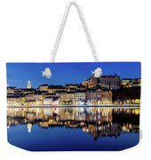 Perfect Sodermalm And Mariaberget Blue Hour Reflection Weekender Tote Bag