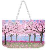 Pink Garden, Oil Painting Weekender Tote Bag