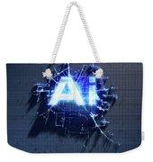Pixel Artificial Intelligence Weekender Tote Bag