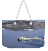 Polar Bear Swimming Wager Bay Canada Weekender Tote Bag