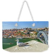Porto Skyline Seagull Weekender Tote Bag