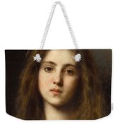 Portrait Of A Young Girl Alexei Alexeivich Harlamoff Weekender Tote Bag