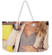 Pregnant Woman At Work Weekender Tote Bag