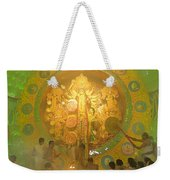 Priest Praying To Goddess Durga Durga Puja Festival Kolkata India Weekender Tote Bag