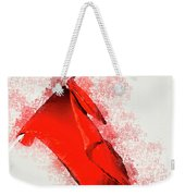 Red Flag On Black Background Weekender Tote Bag