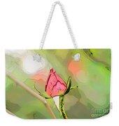 Red Garden Rose Bud Weekender Tote Bag