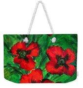 3 Red Poppies Weekender Tote Bag