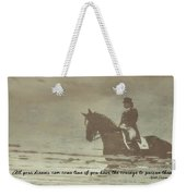 Reflection Quote Weekender Tote Bag