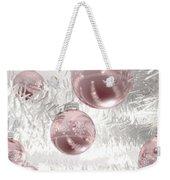 Rose Gold Christmas Baubels Weekender Tote Bag