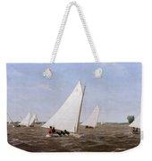 Sailboats Racing On The Delaware Weekender Tote Bag