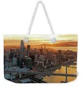 San Francisco Financial District Skyline Weekender Tote Bag