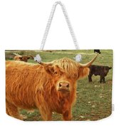 Scottish Highlander With Big Bangs Weekender Tote Bag