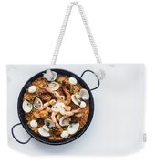 Seafood And Rice Paella Traditional Spanish Food Weekender Tote Bag