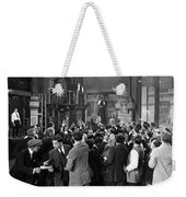 Silent Film Still: Crowds Weekender Tote Bag