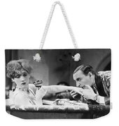 Silent Still: Hand Kissing Weekender Tote Bag