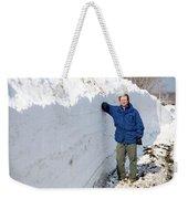 Snow By The Roadside Weekender Tote Bag