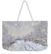 Snow Scene At Argenteuil Weekender Tote Bag