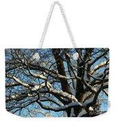 Snowy Trees Against A Blue Sky Weekender Tote Bag