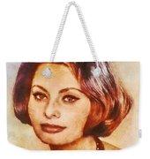 Sophia Loren, Vintage Hollywood Actress Weekender Tote Bag