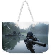 Special Operations Forces Combat Diver Weekender Tote Bag by Tom Weber