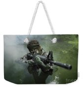 Special Operations Forces Soldier Weekender Tote Bag by Tom Weber