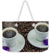Steaming Coffee  Weekender Tote Bag