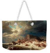 Stormy Sea With Ship Wreck Weekender Tote Bag