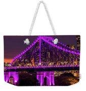 Story Bridge In Brisbane, Queensland Weekender Tote Bag