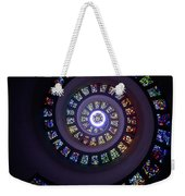 Spiral Stained Glass Weekender Tote Bag