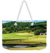 Summer Morning Hay Field Weekender Tote Bag