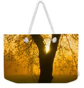 Sunrise Trees Fog Weekender Tote Bag