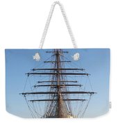 Tall Ship Anchored Off Penzance Weekender Tote Bag