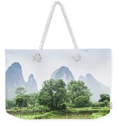 The Beautiful Karst Rural Scenery In Spring Weekender Tote Bag