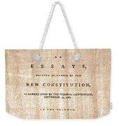 The Federalist, 1788 Weekender Tote Bag