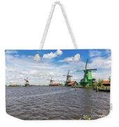 Traditional Dutch Windmills At Zaanse Schans, Amsterdam Weekender Tote Bag