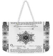 tree of life ketubah-Reformed and Interfaith version Weekender Tote Bag