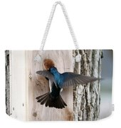 Tree Swallow Weekender Tote Bag