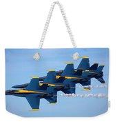 U S Navy Blue Angeles, Formation Flying, Smoke On Weekender Tote Bag