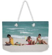 3 Up 1 Down At The Beach Weekender Tote Bag