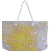 3. V2 Yellow And White Bubble Glaze Painting Weekender Tote Bag