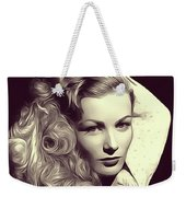 Veronica Lake, Vintage Actress Weekender Tote Bag