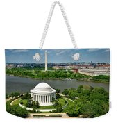 View Of The Jefferson Memorial And Washington Monument Weekender Tote Bag