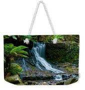 Waterfall In Deep Forest Weekender Tote Bag