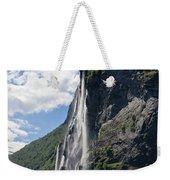 Waterfall In Geiranger Norway Weekender Tote Bag