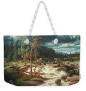 Waterfall In Smaland Weekender Tote Bag