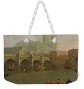 Westminster Abbey And Bridge Weekender Tote Bag