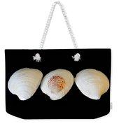 3 White Shells Weekender Tote Bag