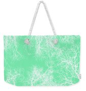 White Silhouetted Trees  Weekender Tote Bag