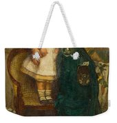 Woman With Child And Goldfish Weekender Tote Bag